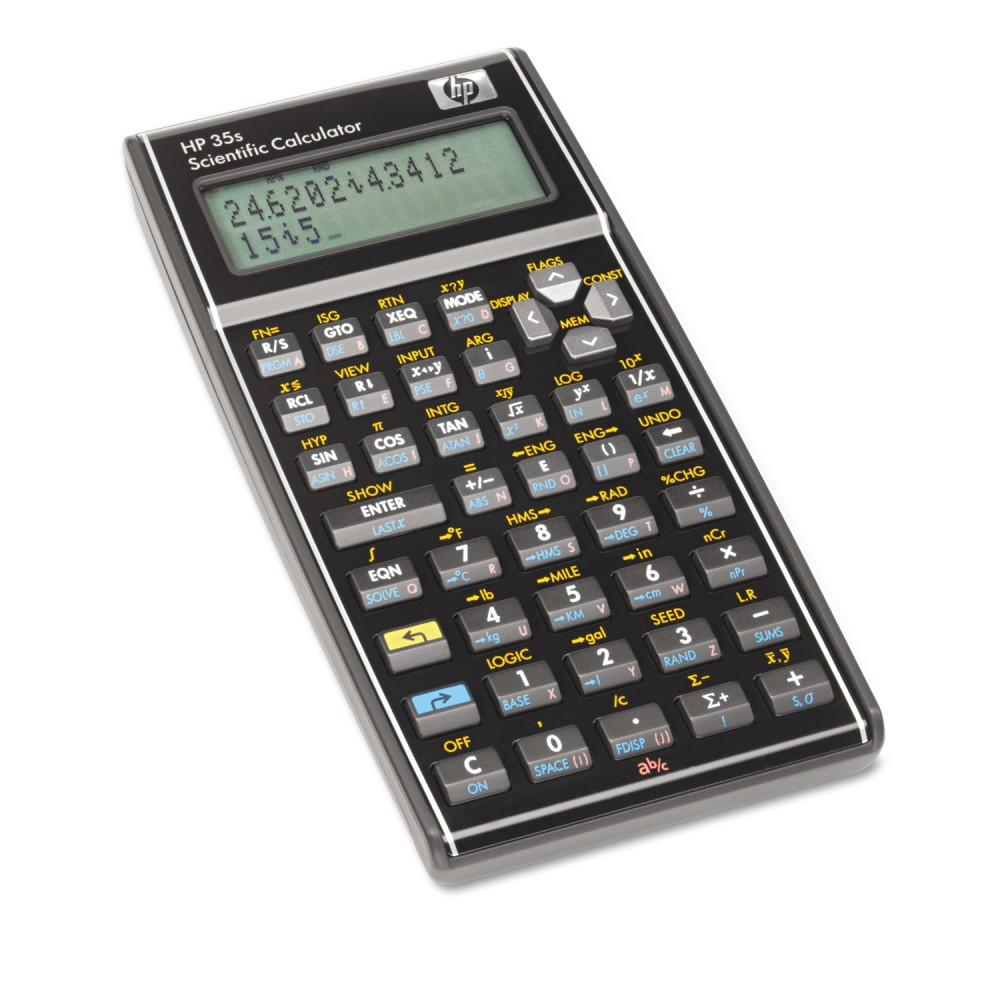 Image of Hewlett-Packard Scientific Calculator Battery-powered - Black