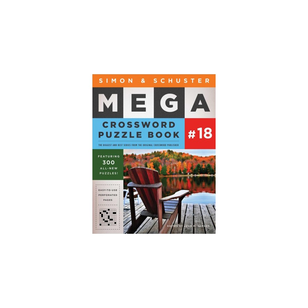 Simon & Schuster Mega Crossword Puzzle Book 18 - (Paperback)