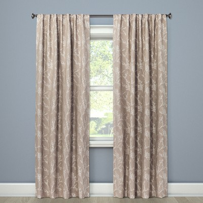 Blackout Curtain Panel Tan Edalene 84  - Threshold™