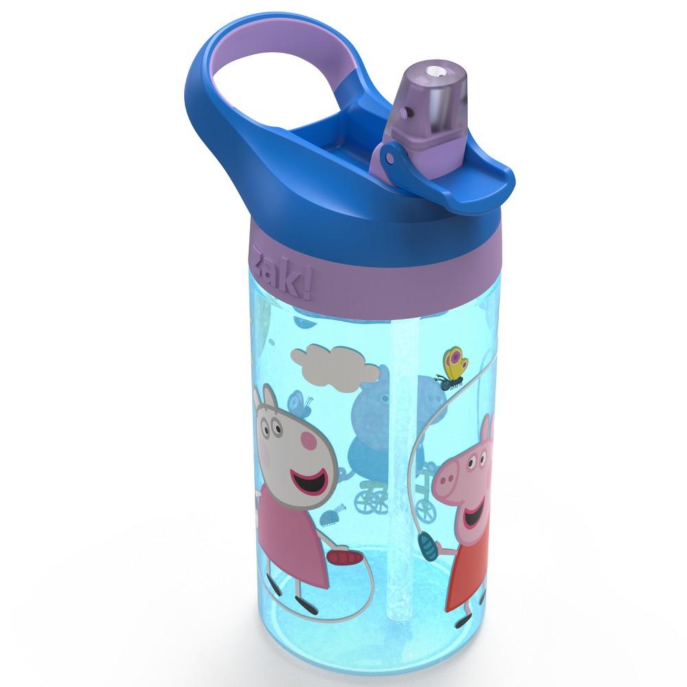 Image of Peppa Pig 16oz Plastic Water Bottle Blue/Purple - Zak Designs, Multi-Colored
