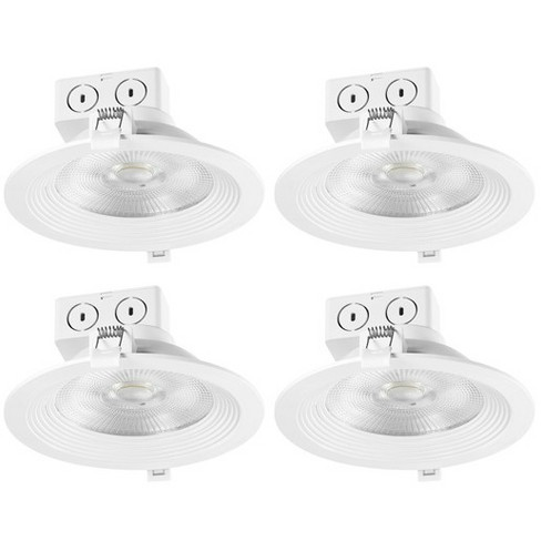 """Globe Electric 91340 Pack of (4) Classic Series LED Integrated Recessed Fixture 6"""" Baffle Recessed Trim - image 1 of 1"""