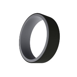 QALO Men's Switch Silicone Ring - Grey and Black