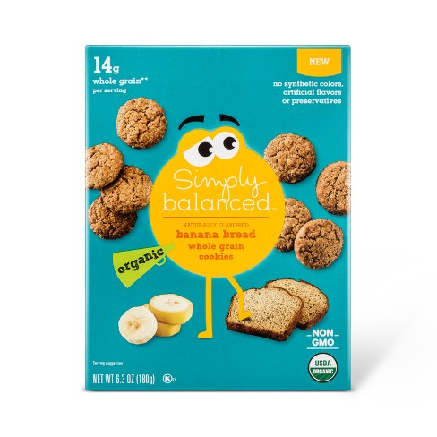 Organic Whole Grain Banana Bread Cookies - 6.3oz - Simply Balanced™ - image 1 of 1