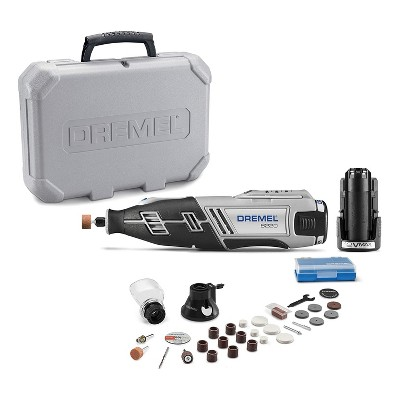 Dremel 8220-2/28 12V Max Lithium-Ion Cordless Rotary Tool Kit with 2 Batteries, 28 Accessories, Cutting Guide Attachment, and Carrying Case