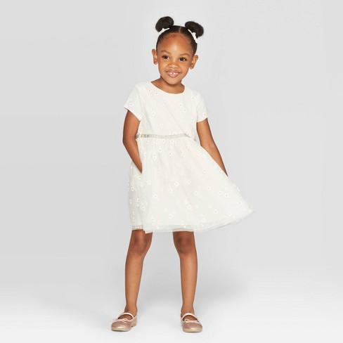 Oshkosh'B'gosh Toddler Girls' Tulle Dress - Off-White - image 1 of 3