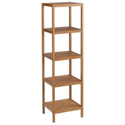 Five Shelf Ecostyle Bamboo Tower Light Brown - Creative Bath
