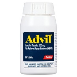 Advil Pain Reliever/Fever Reducer Tablets - Ibuprofen (NSAID) - 200ct