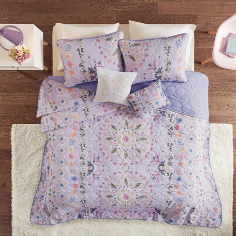 Evie Printed Reversible Quilt Coverlet Set - image 1 of 4