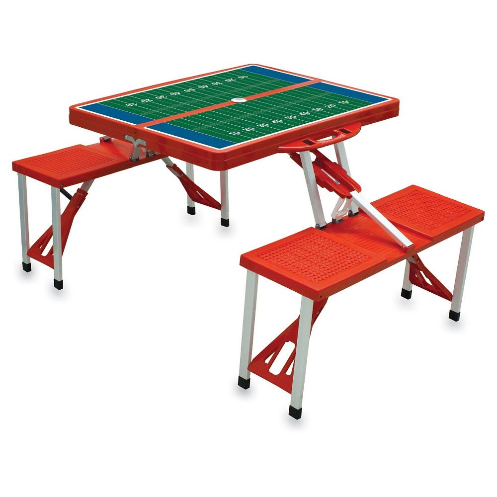 Picnic Time Table Sport Portable Table and Seats - Red