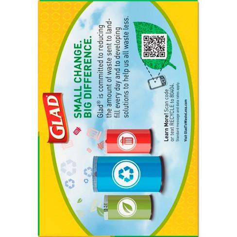 Glad Blue Recycling Tall Kitchen Drawstring Trash Bags 13 Gallon 45ct Target
