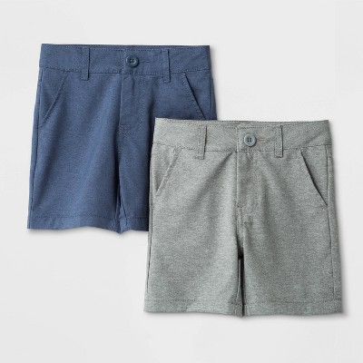 Toddler Boys' 2pk Quick Dry Shorts - Cat & Jack™ Gray/Blue