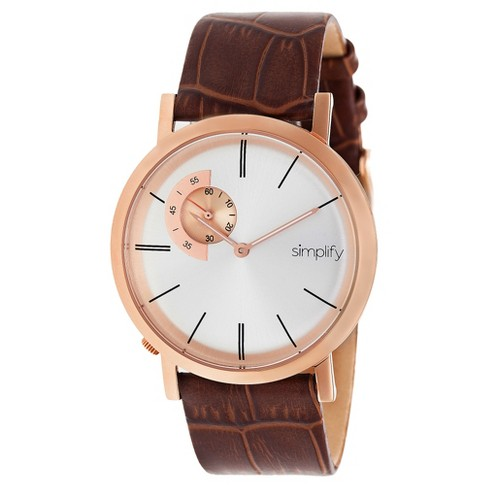 Simplify The 3100 Men's Leather-Band Watch - image 1 of 3
