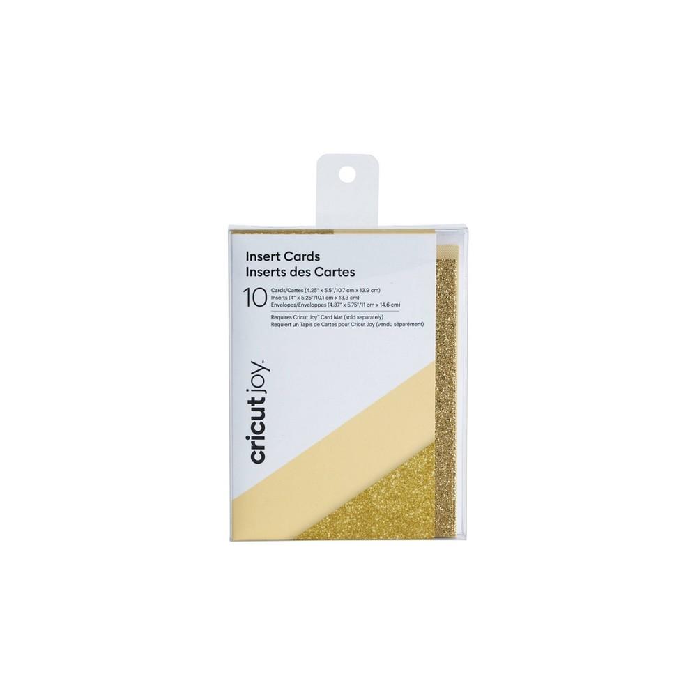 Image of Cricut Joy 10ct Insert Cards Cream/Gold Glitter