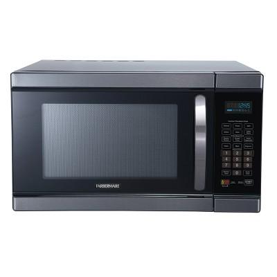 Farberware 1.1 cu ft 1100 Watt Microwave Oven with Smart Sensor Cooking Black Stainless Steel - FMO11AHTBSJ
