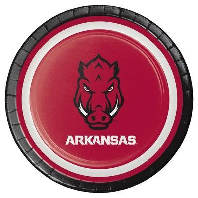 """8ct University of Arkansas 7"""" Dessert Plates - NCAA"""