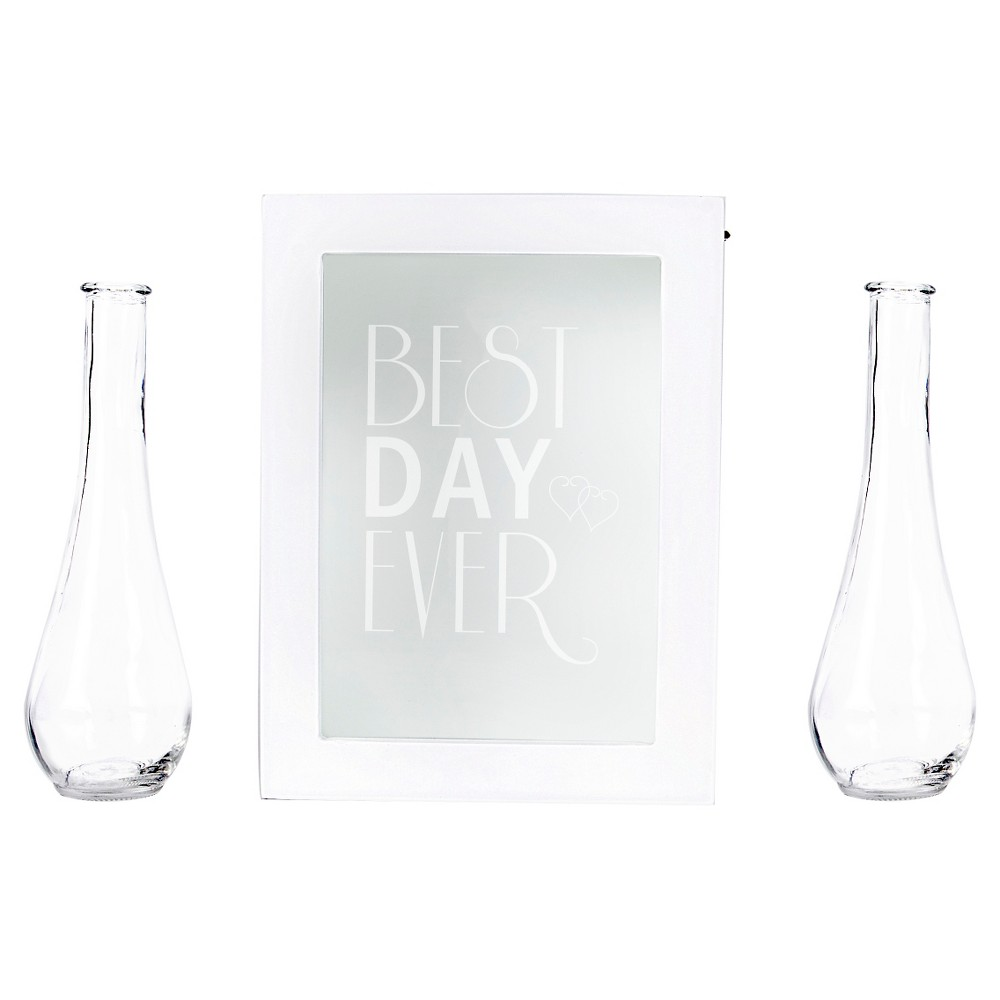 'Best Day Ever' Sand Unity Ceremony Box Set White