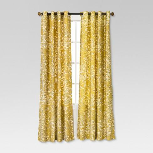 paisley curtain panel threshold - Curtains Target