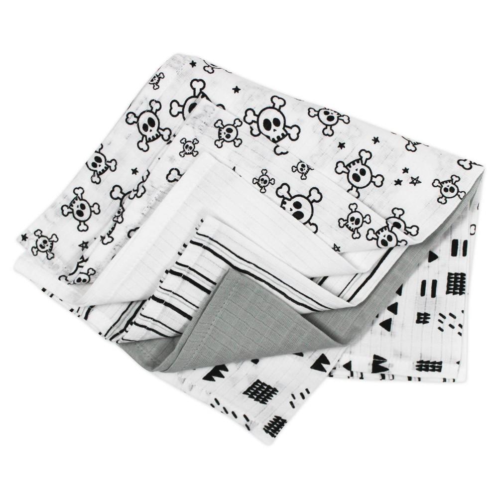 Honest Baby Organic Cotton Cuddle Square Pattern Play 5pk