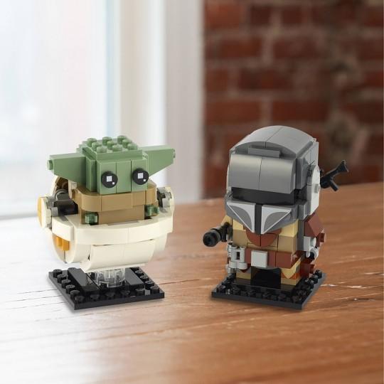 LEGO BrickHeadz Star Wars The Mandalorian & The Child 75317 Building Kit 295pc image number null