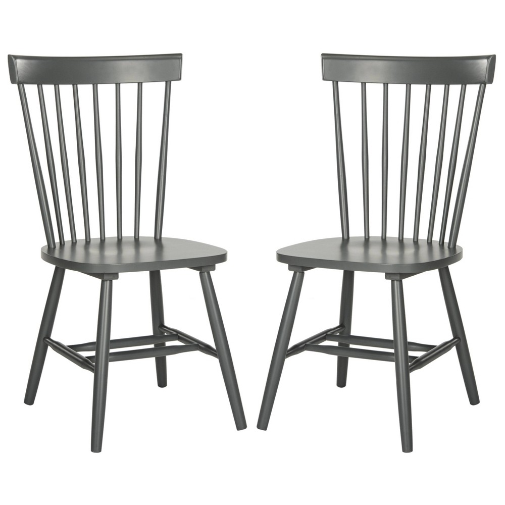 Parker Dining Chair - Charcoal Gray (Set of 2) - Safavieh