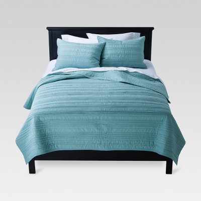 Mint Green Raw Edge Quilt (King)- Threshold™