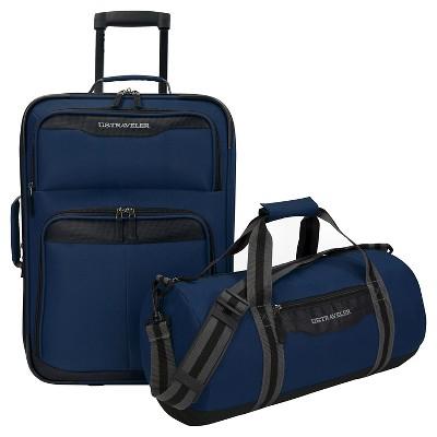 U.S. Traveler 2pc Luggage Set - Navy