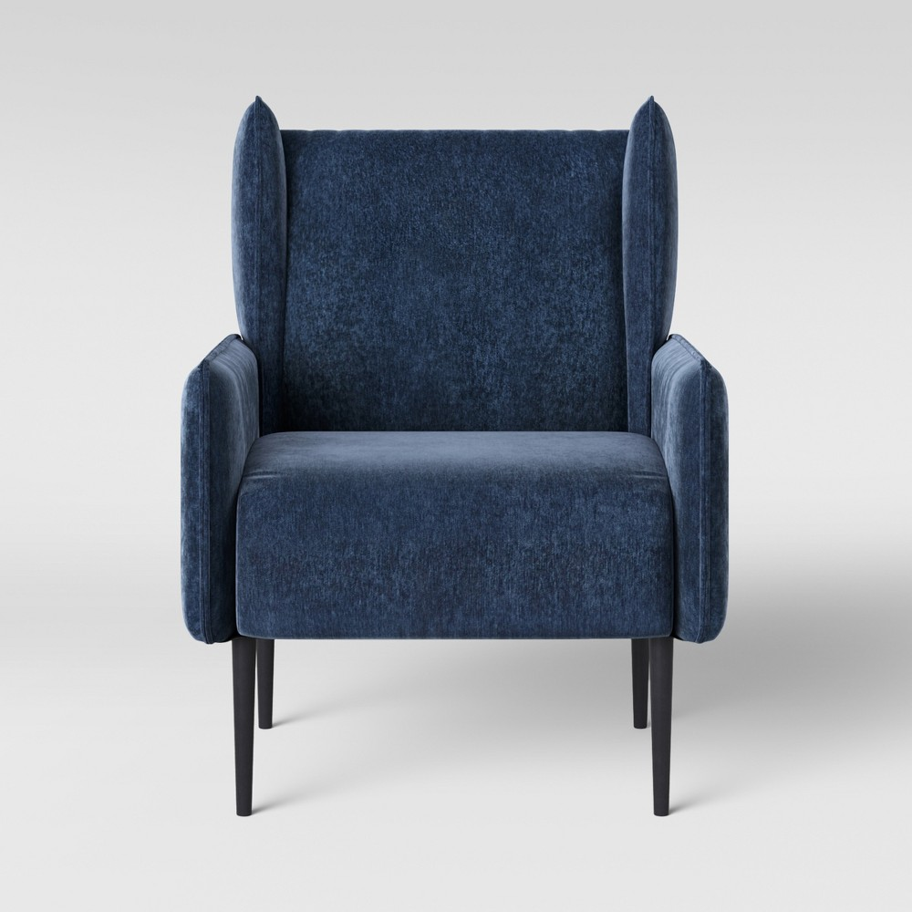 Amazing Riverview Modern Accent Arm Chair Indigo Blue Project 62 Andrewgaddart Wooden Chair Designs For Living Room Andrewgaddartcom
