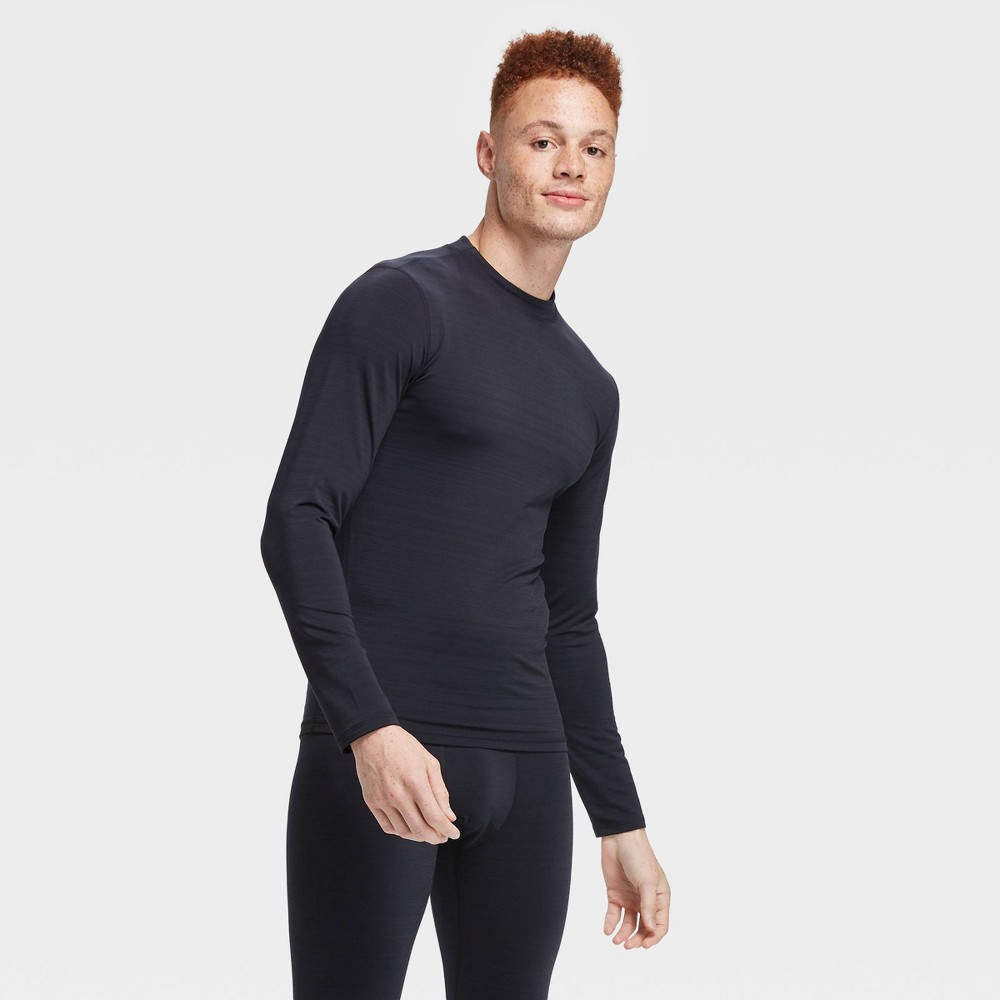 Men's Long Sleeve Fitted Cold Mock T-Shirt - All in Motion Black XL, Men's was $22.0 now $15.4 (30.0% off)