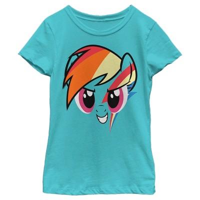 Girl's My Little Pony Rainbow Dash Face T-Shirt