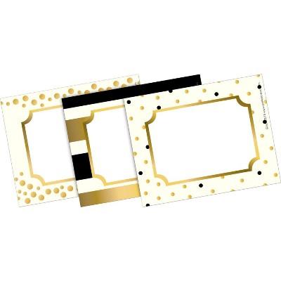 Barker Creek Self Adhesive 24K Gold Name Badges, 3-1/2 x 2-3/4 Inches, set of 45