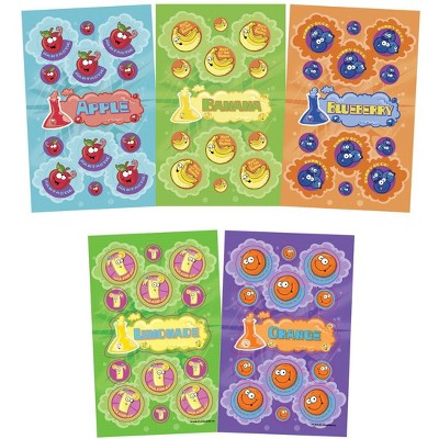 JFL Scratch N Sniff Stickers, 10 Fruity Fun Scents, pk of 280