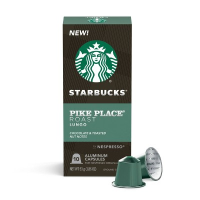 Starbucks Nespresso Pike Place Espresso Roast Capsules - 10ct/2.01oz