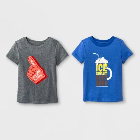 2d1a2eea64c Toddler Boys  2pk Dad Pack Short Sleeve T-Shirt - Cat   Jack™ Blue ...