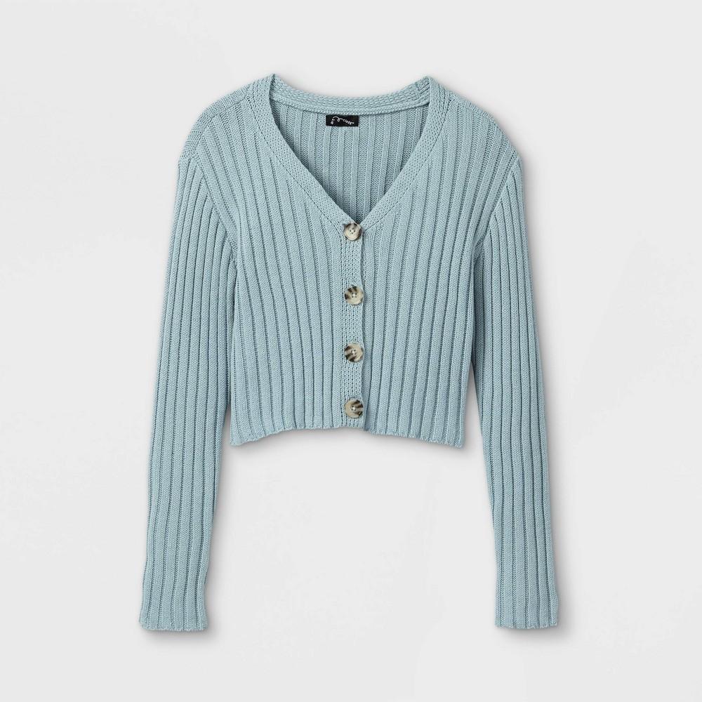 Girls 39 Cropped Button Front Cardigan Art Class 8482 Blue L