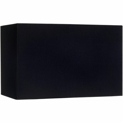 Brentwood Black Rectangular Hardback Lamp Shade 8/16x8/16x10 (Spider)