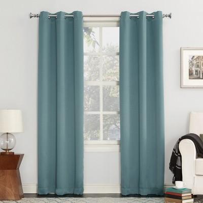 Kenneth Blackout Energy Efficient Grommet Curtain Panel Mineral 40 x84 - Sun Zero