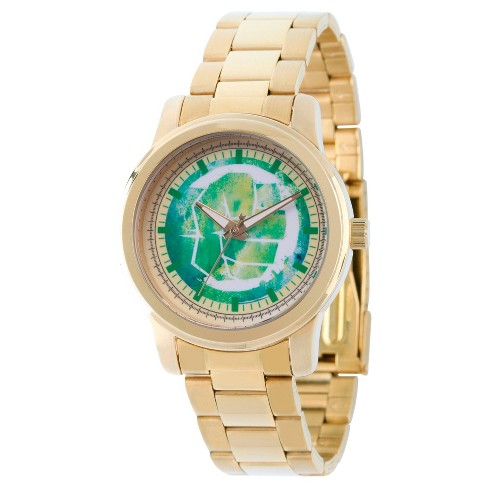 Men's Marvel® Captain America Classic Hulk Fist Alloy Watch - Gold - image 1 of 2