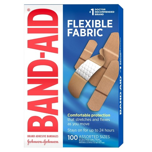 Band-Aid Flexible Fabric - 100ct - image 1 of 4