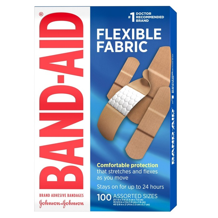 Band-Aid Flexible Fabric - 100ct - image 1 of 8