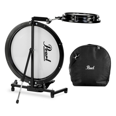 Pearl Compact Traveler 2-Piece Drum Kit with Bag Black - image 1 of 4