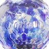 """31"""" Resin Solar Pearlized Glass Honeycomb Finial Garden Stake Blue - Exhart - image 4 of 4"""