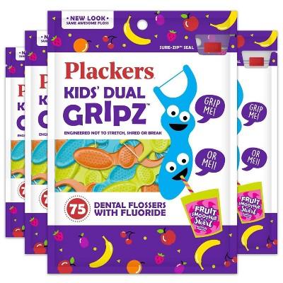 Plackers Kids Dual Grip Flosser - 75ct/4pk