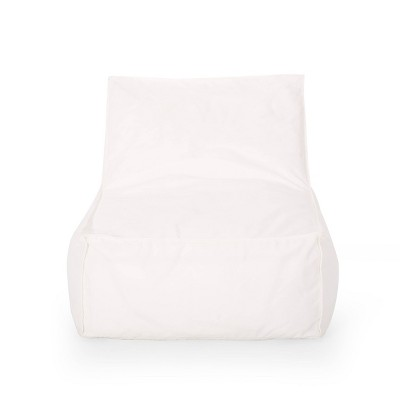 3' Indoor Contemporary Water Resistant Fabric Bean Bag Chair White - Christopher Knight Home