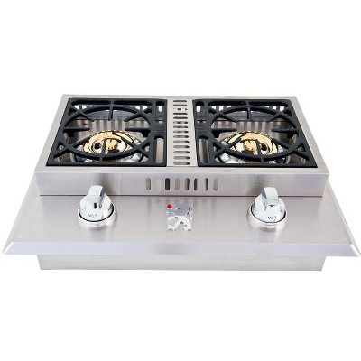 Lion Premium Grills Stainless Steel Drop In Natural Gas Double Side Burner - L1634