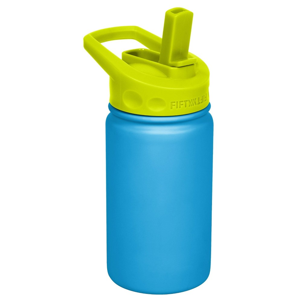 Image of FIFTY/FIFTY 12oz Bottle Straw Cap Blue/Lime