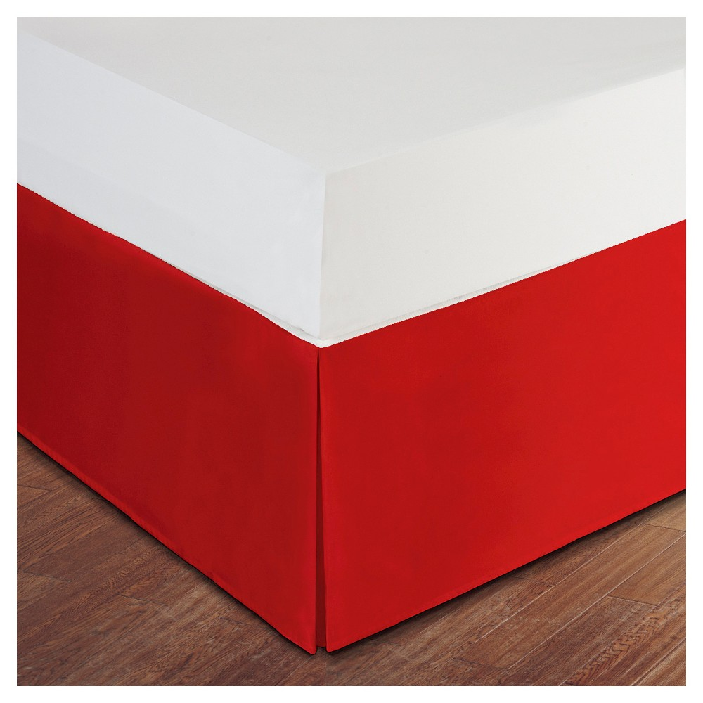 """Image of """"Red Tailored Microfiber 14"""""""" Bed Skirt (Twin XL)"""""""