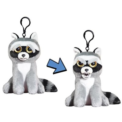 "William Mark Corp Feisty Pets 4"" Plush Keychain, Rascal Rampage Raccoon"