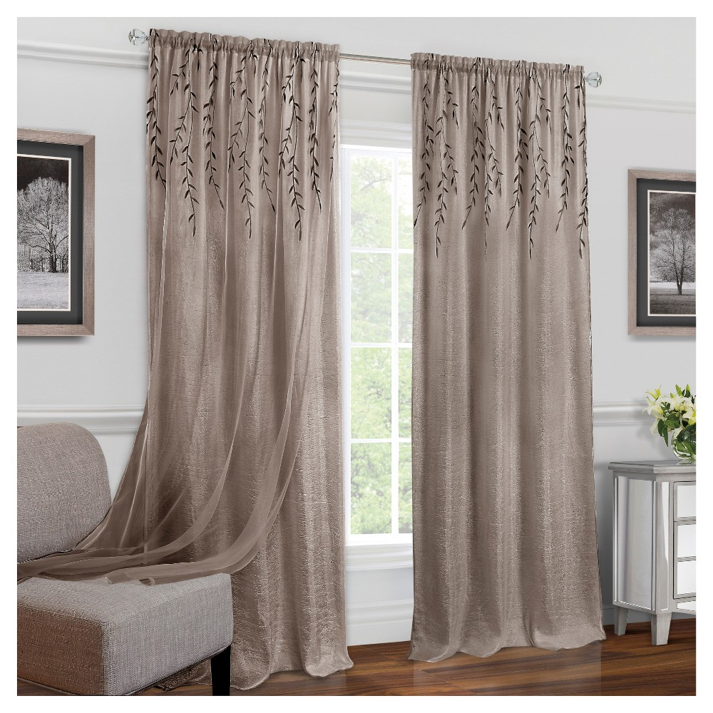 Willow Rod Pocket Window Curtain Panel Toffee (42