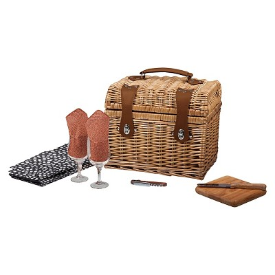 Picnic Time Napa Wine and Cheese Basket - Adeline Collection