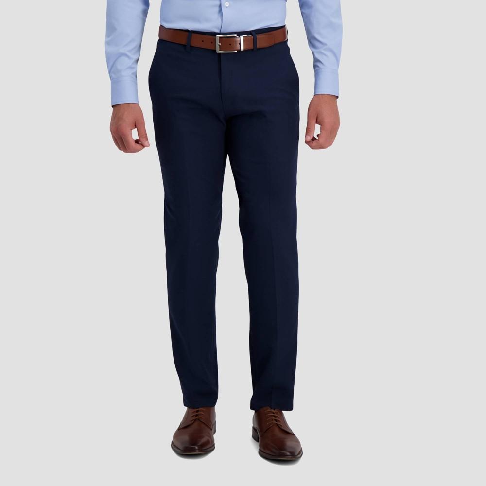 Haggar H26 Men 39 S Premium Stretch Straight Fit Pants Indigo 34x32